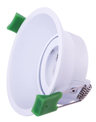 CLA Arc Downlight Fitting Adjustable Round Low Glare Matt White in 9cm