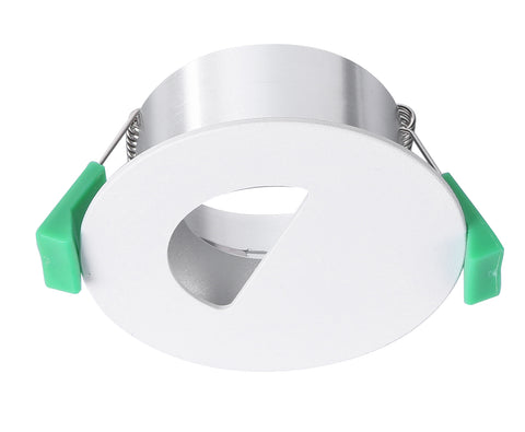 CLA Arc Downlight Fitting Fixed Round w Semi Circular Cut Matt White in 9cm