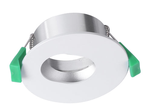 CLA Arc Downlight Fitting Fixed Round w Elipse Cut Matt White in 9cm
