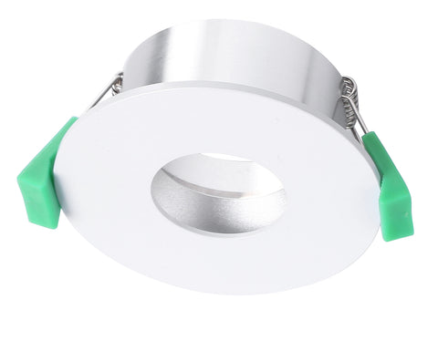 CLA Arc Downlight Fitting Fixed Round w Circular Cut Matt White in 9cm