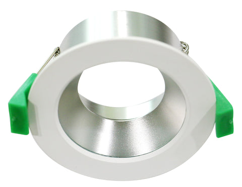 CLA Arc Downlight Fitting Fixed Round Matt White in 9cm