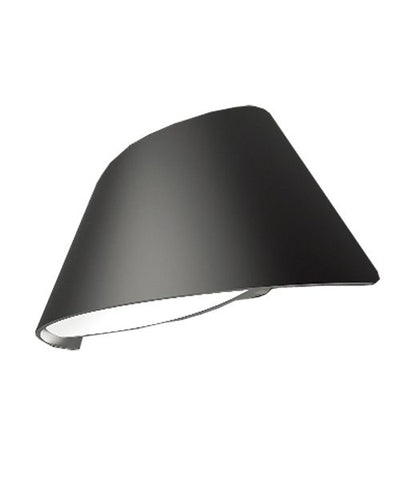 CLA Lighting Aten LED Wall Light Exterior Curved Up Down in Black or White 24cm