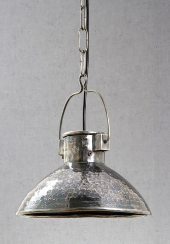 Emac Lawton Ashton Pendant Light Antique Silver E27 in 26cm