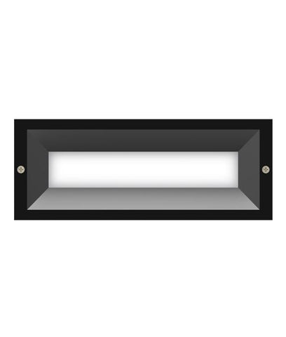 CLA Lighting Brick LED Wall Light Recessed Outdoor Grey or White 13W 25cm