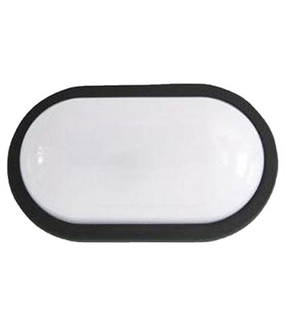 CLA Lighting Bulk LED Wall Light Oval Bulkhead Exterior Black or White 20W 27cm