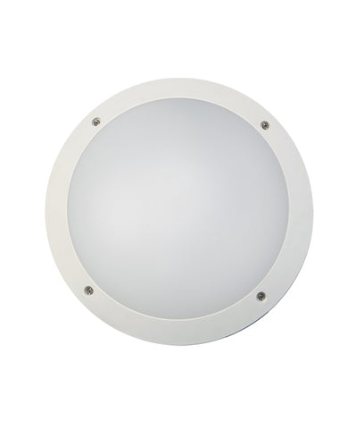 CLA Lighting Bulk LED Wall Light Round Exterior Black or White 12W in 30cm