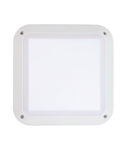 CLA Lighting Bulk LED Wall Light Bulkhead Exterior Black or White 12W in 28cm