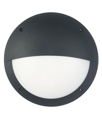CLA Lighting Bulk LED Wall Light Bulkhead Exterior Round Eyelid 12W in 30cm