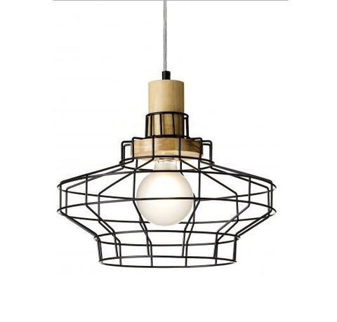 Rouge Living Billund Pendant Light Black E27 in 36cm