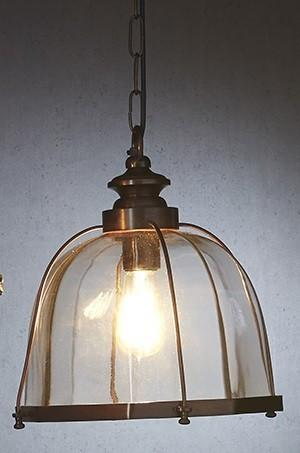 Emac Lawton Avery Pendant Light in Silver or Brass E27 32cm