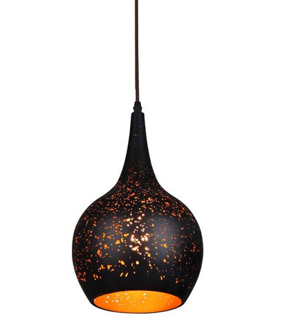 CLA Lighting Celeste Pendant Light Bell Black w Gold E27 in 31cm