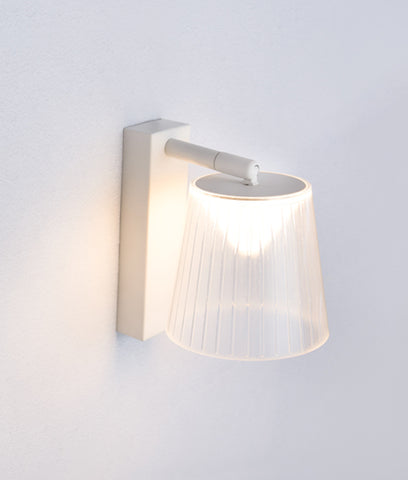 CLA Lighting Chester LED Wall Light Adjustable White w Clear Shade 6W in 18cm
