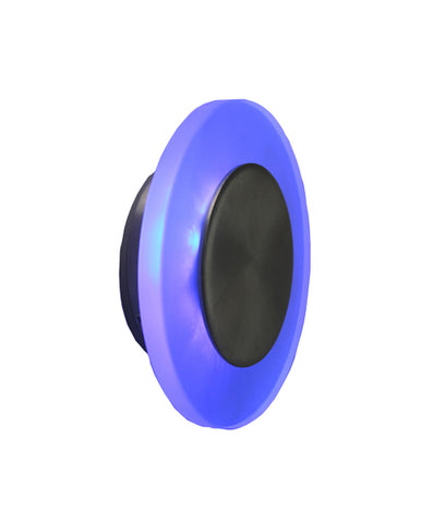 CLA Lighting Round LED Wall Light Stainless Steel Blue 1.8W in 12cm