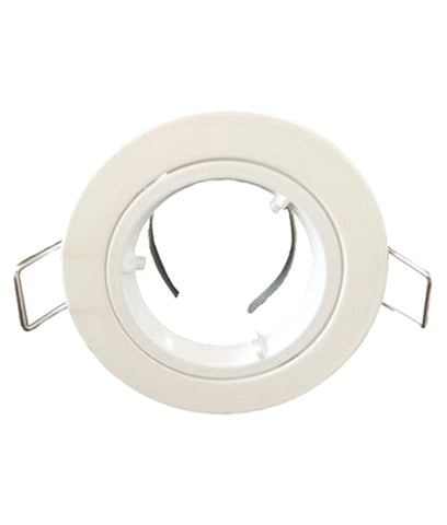 CLA Downlight Fitting Fixed Round MR11 in Satin Chrome or White 6cm