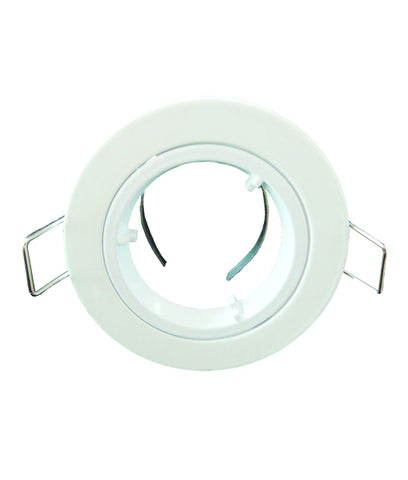 CLA Downlight Fitting Fixed Round MR16 in Satin Chrome or White 10cm