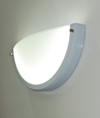 CLA Lighting LED Crescent Wall Light White Dimmable in 31cm