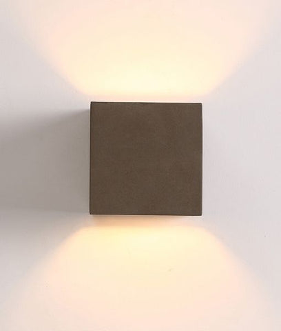 CLA Lighting Cubo LED Wall Light Replica Exterior Up Down Multicolour 3.5W 14cm