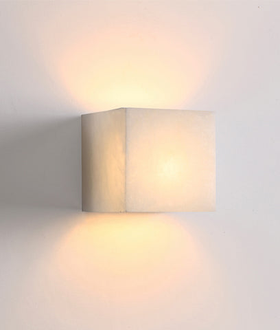 CLA Lighting Cubo LED Wall Light Outdoor Square Frosted Glass 5W in 13cm