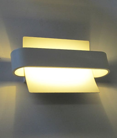 CLA Lighting Dubai LED Wall Light White 6W in 26cm