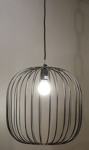 Emac Lawton Alex Wire round Pendant Light E27 in 40cm