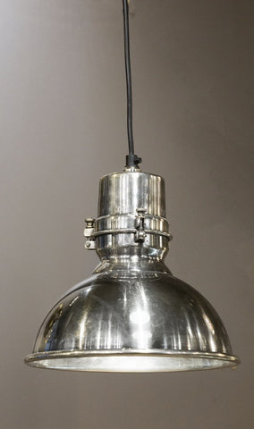Emac Lawton Augusta Pendant Light Silver E27 in 24cm