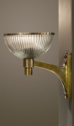 Emac Lawton Astro Wall Light w Glass E27 Brass in 33cm