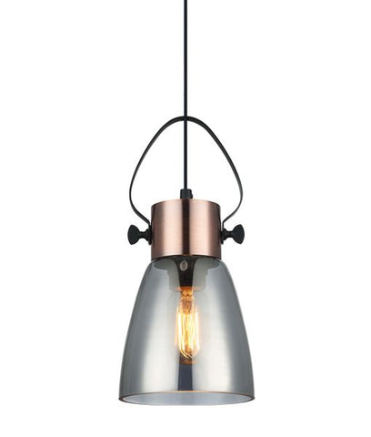 CLA Lighting Fumoso Pendant Light Ellipse E27 in 30cm
