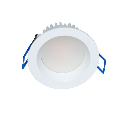 CLA Lighting LED Downlight Dimmable Fixed Round 10W in White Silver or Chrome