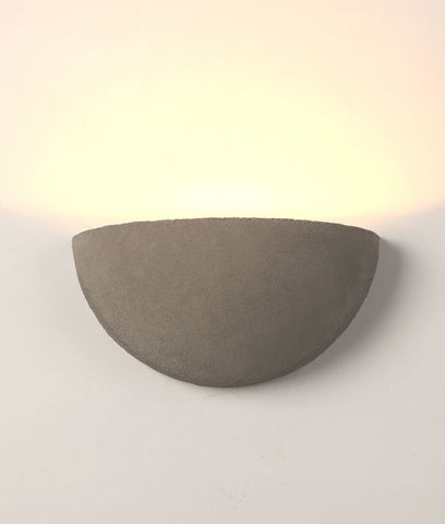 CLA Lighting Gomo LED Wall Light Exterior Semicircle Cement Grey 5W in 30cm