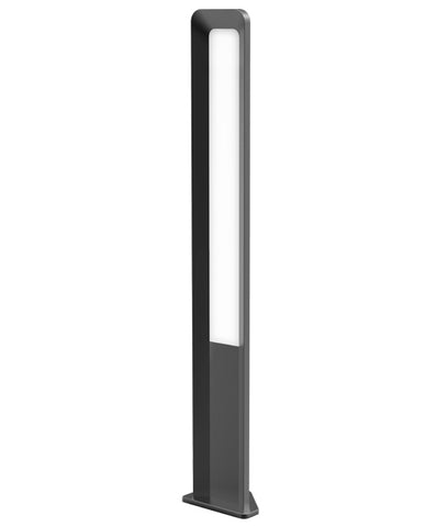 CLA Lighting Hathor LED Bollard Light Grey 13W in 50cm or 80cm