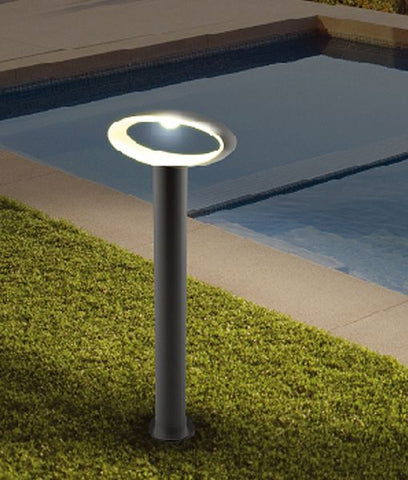 CLA Lighting Horus Post Bollard Light Exterior Open Oval in Black 9W