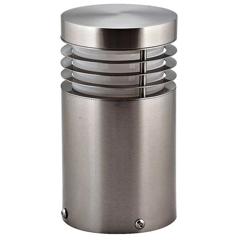 Havit Bollard Light in Stainless Steel and Matt Black 19cm