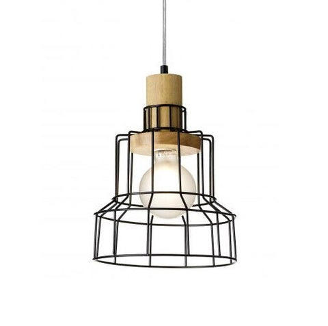 Rouge Living Heming Pendant Light Black E27 in 32cm