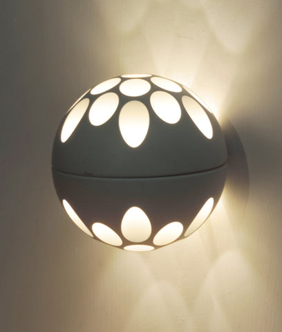 CLA Lighting LED Jedi Wall Light Round Ball 20W in White 14cm