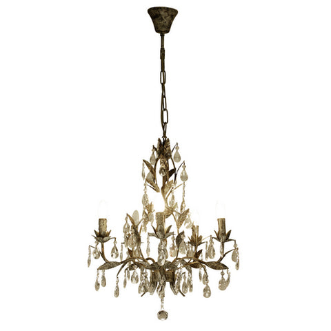 One world Chandelier Taupe W Drop in 75cm