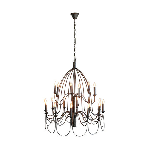 One world Chandelier Light Large Arm Taupe in 120cm