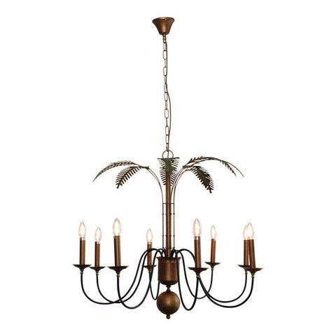 One world Palm Chandelier Light Iron in 90cm