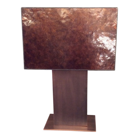 One world Kirk Table Lamp w Parchment Shade in 61cm