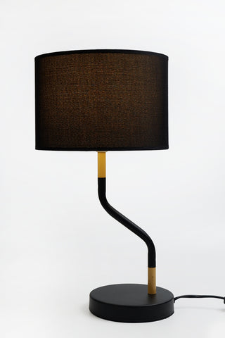Apothecary Table Lamp in Black or White w Shade E27 46cm Lexi Lighting