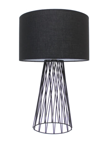 Albus Table Lamp in Black or Blue E27 47cm Lexi Lighting