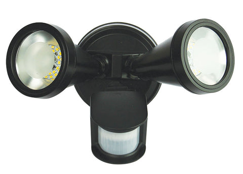 Oriel Cadet LED Flood Light w Sensor 10W in Black Silver or White 28cm