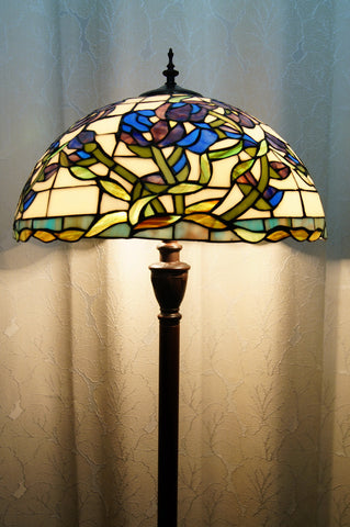 aefe038f4020 Tiffany Iris Flower Floor Lamp Stained Glass in 160cm ...