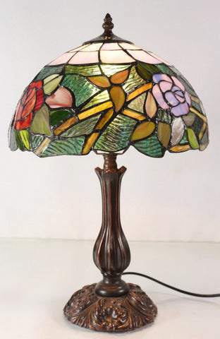Buy tiffany lamps products for sale in australia rex lights online tiffany bedside table lamp romantic rose style in 48cm mozeypictures Images