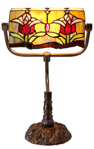 622626a11ad1 Tiffany Banker Desk Lamp Traditional Colonial Tulip Style in 42cm. Sale