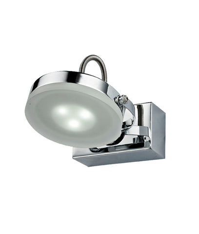 CLA Lighting Seattle LED Wall Light Chrome Adjustable Head 3W in 9cm