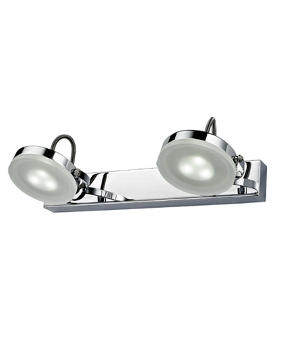 CLA Lighting Seattle LED Wall 2 Light Chrome Adjustable Head 6W in 31cm