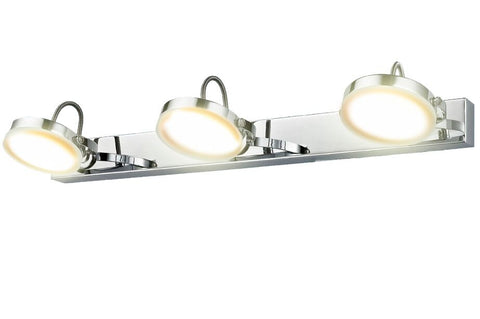 CLA Lighting Seattle LED Wall 3 Light Chrome Adjustable Head 9W in 52cm