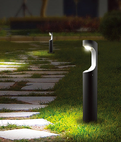 CLA Lighting Seth LED Post Bollard Light Exterior Black 9W