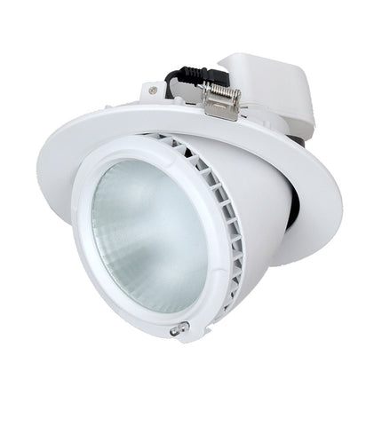 CLA Lighting LED Downlight Shop Lighter Round Gimbal 38W White in 20cm