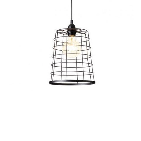 Rouge Living Penn Pendant Light Black E27 in 26cm